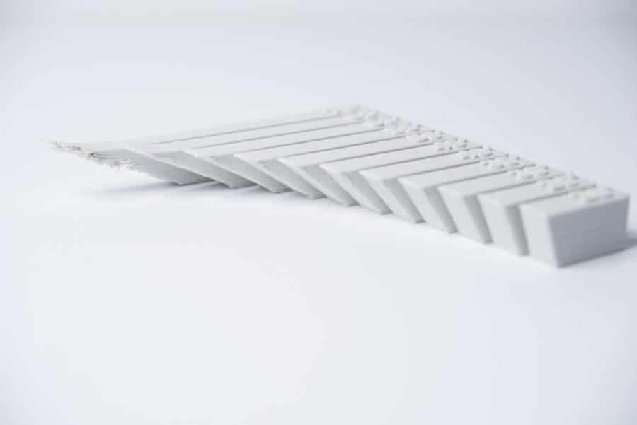 Die Auswirkungen des steigenden Winkels bei Überhängen (Bildquelle: 3dhubs)