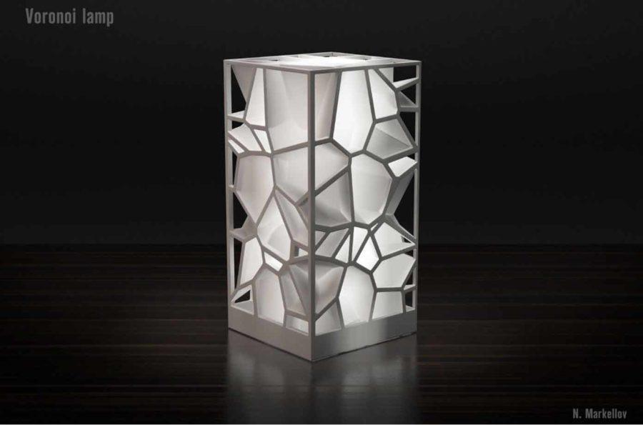Elegante Voronoi Lampe (Bildquelle: nick markellov/myminifactory)